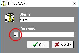Cambio Password Time&Work Schermata login